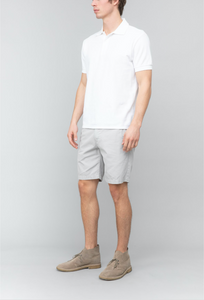 Organic Cotton Beach Polo - White