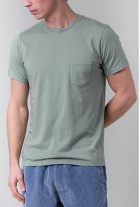 S/S Supima Pocket Tee - Willow