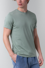 Load image into Gallery viewer, S/S Supima Pocket Tee - Willow