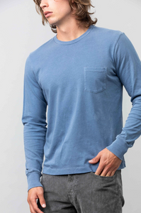 L/S Beach Pocket Tee - Air Force