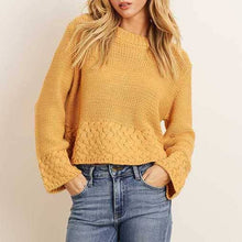 Load image into Gallery viewer, Mustard Knitted Cropped Sweater