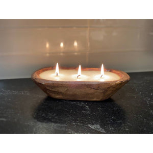 Hand Poured Carved Bowl Candle