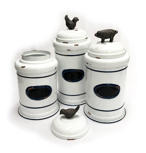 Medium Rooster Farmhouse Canister (1 canister)