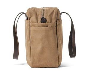 Filson Rugged Tote Bag with Zipper-Dark Tan