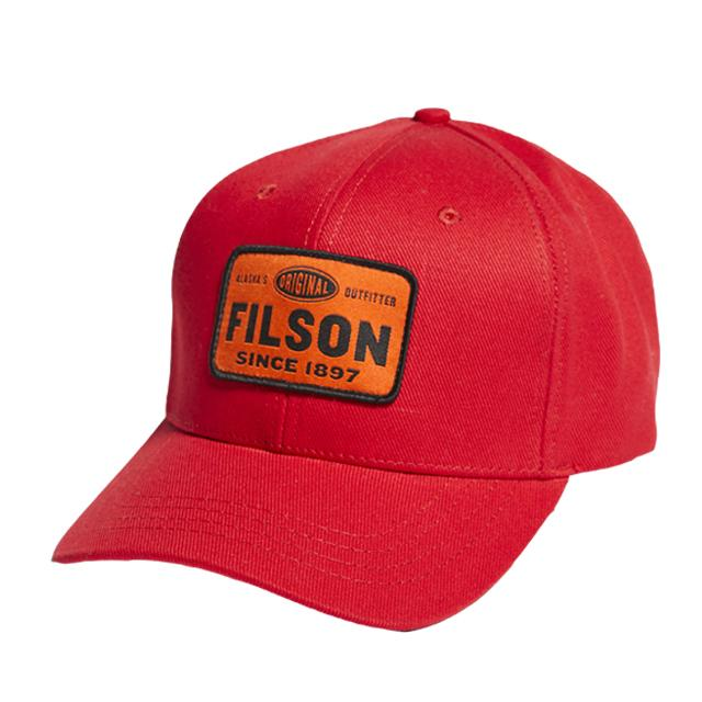 Filson Denim Logger Cap - Scarlet Red