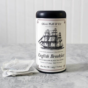 Oliver Pluff & Co. English Breakfast - Teabags in Signature Tea Tin