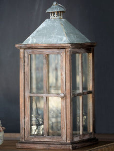 Windowpane Candle Lantern