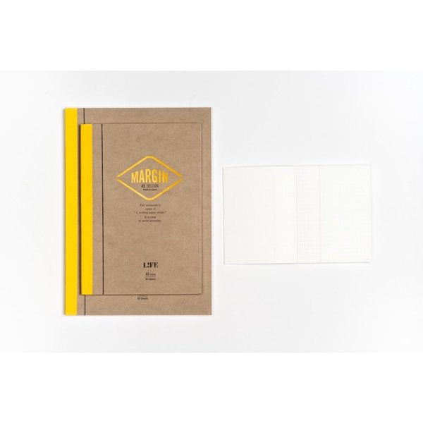 Margin Yellow -  Grid Notebook