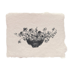 Bowl of Flowers Notecard - Set of 4