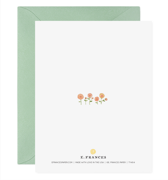 Little Flowers Thank You Card