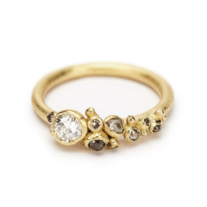 Diamond Cluster Ring