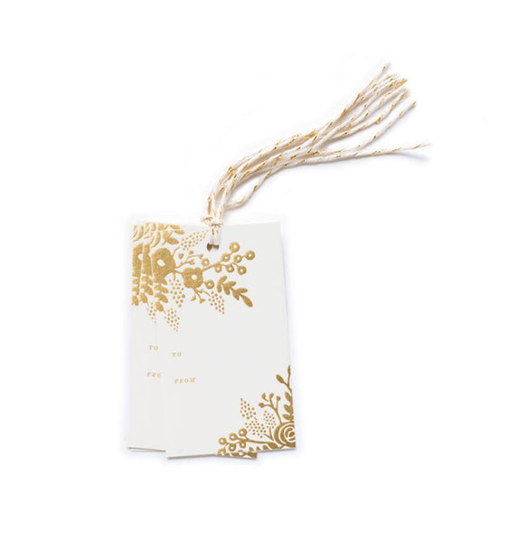 Gold Lace Gift Tags