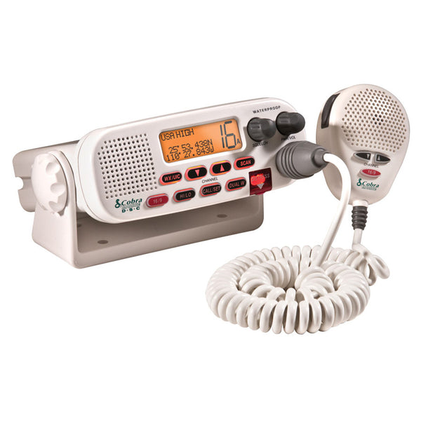 Cobra MR45-D Fixed Mount Class D Submersible VHF Radio - White