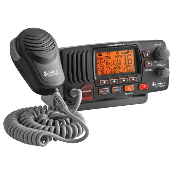 Cobra MR F57B Fixed Mount Class D VHF Radio - Grey