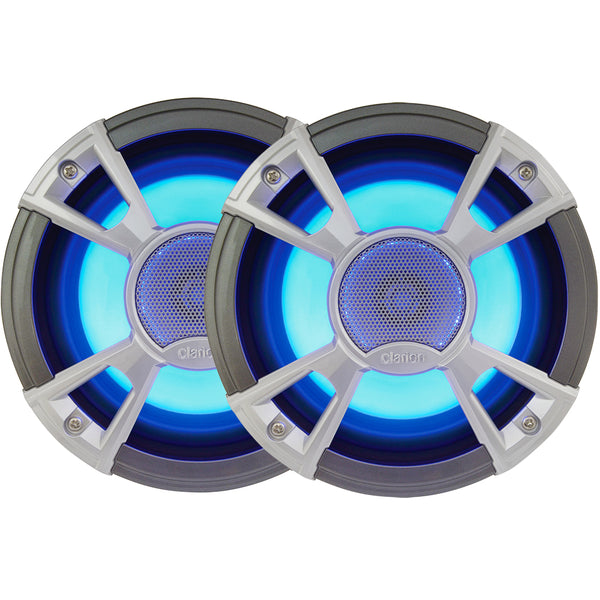 "Clarion CMQ1622RL 6.5"" 2-Way 200W Speakers w/LED - Light Blue"