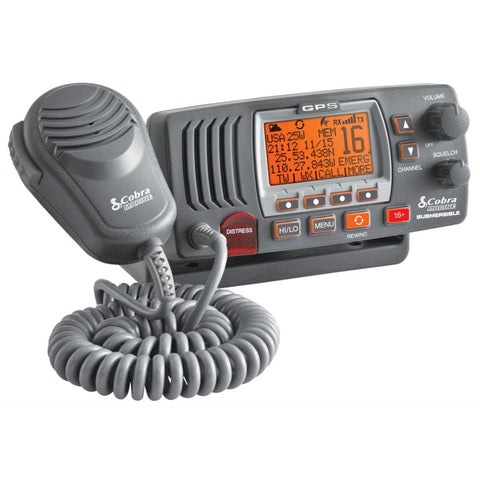 Cobra MR F77B Fixed Mount Class D VHF Radio - 25W - Gray