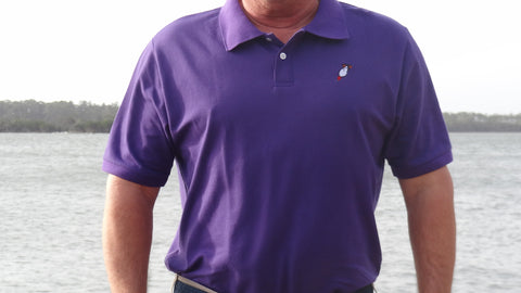 Diving Duck Outfitter Purple Polo
