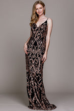 Load image into Gallery viewer, Copper Shimmer Gown