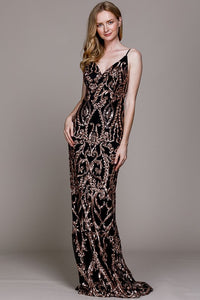Copper Shimmer Gown