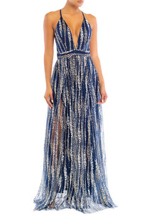 Navy Willow Gown