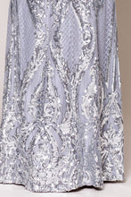 Load image into Gallery viewer, Silver Shimmer Gown