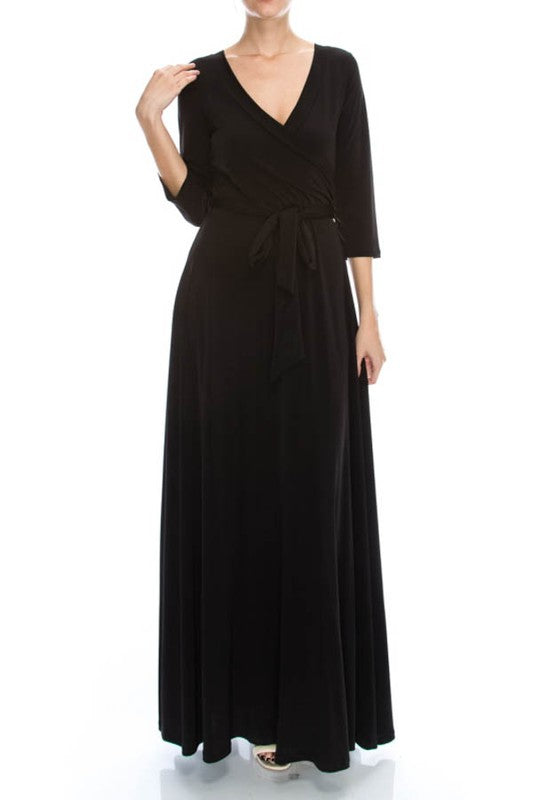 Black Wrap Gown