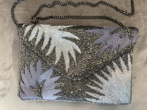 Grey Leaf Clutch