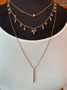 Gray Layered Necklace- N10