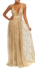 Load image into Gallery viewer, Gold Shimmer Gown