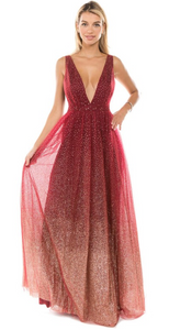 Red Ombre Gown