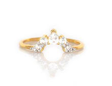 Load image into Gallery viewer, White Topaz Angels Arc Ring