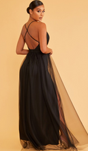 Load image into Gallery viewer, Black Tulle Maxi