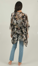 Load image into Gallery viewer, Black Garden Kimono