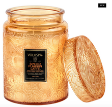 Load image into Gallery viewer, Spiced Pumpkin Latte Large Glass Jar Candle