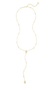 Kendra Scott Claudia Necklace in Gold Iridescent Drusy