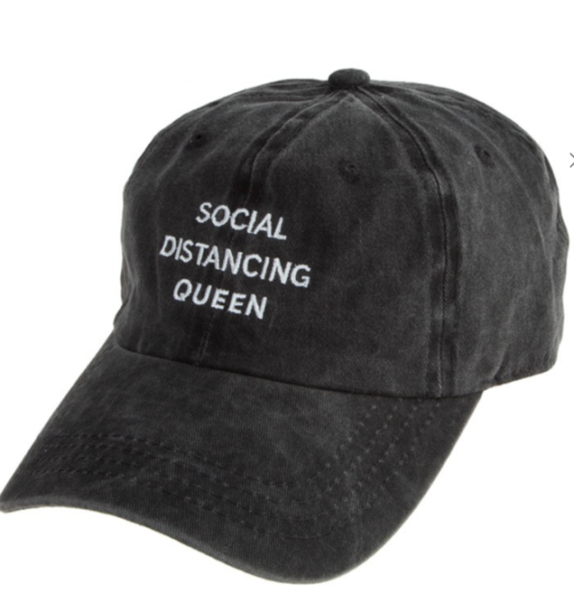 Social Distancing Queen Baseball Hat