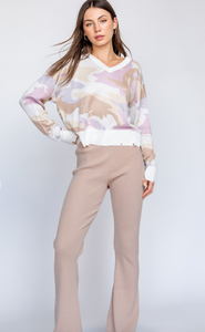Blush Camo Sweater