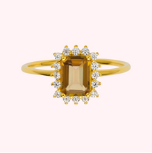 Load image into Gallery viewer, Topaz & Diamond Magical Haze Ring