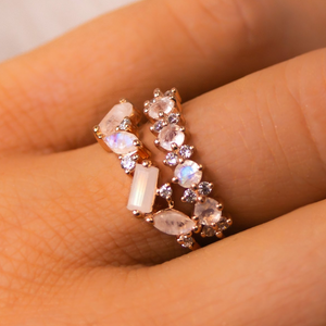 Rose Gold Shades of Light Ring