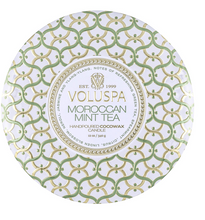 Load image into Gallery viewer, Moroccan Mint Tea 3 Wick Tin Candle