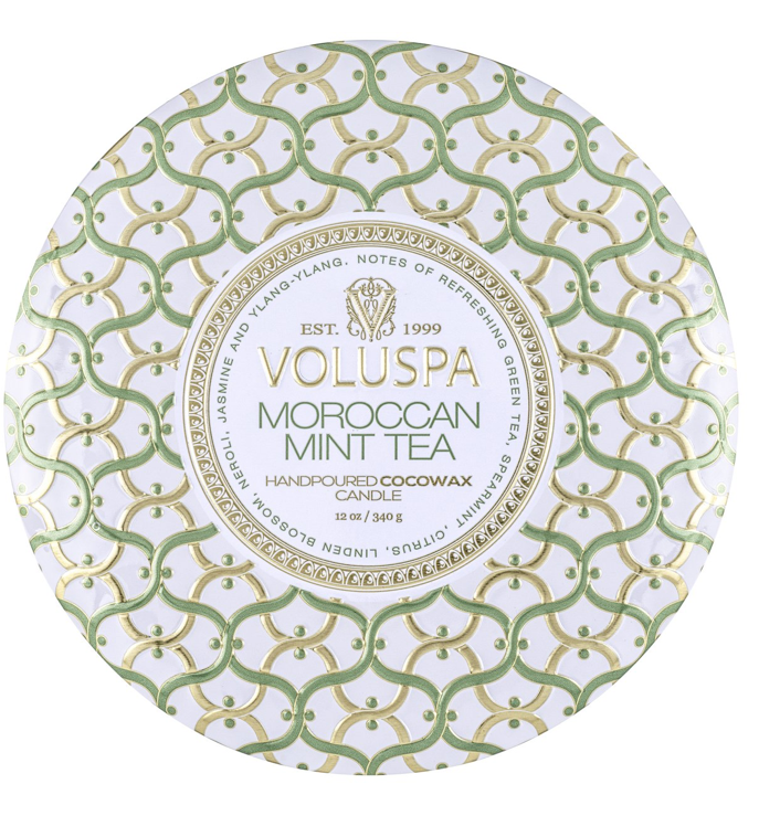 Moroccan Mint Tea 3 Wick Tin Candle