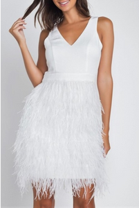 Ivory Ostrich Feather Dress
