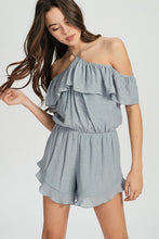 Load image into Gallery viewer, Dove Ruffle Romper