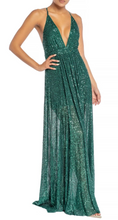 Load image into Gallery viewer, Green Shimmer Gown