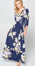 Load image into Gallery viewer, Navy Daffodil Maxi