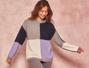 Callie Block Sweater