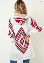 Load image into Gallery viewer, Merlot Aztec Cardigan
