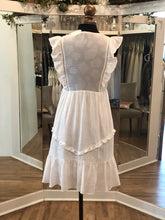 Load image into Gallery viewer, White Ruffle Dress