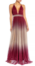 Load image into Gallery viewer, Wine Ombre Gown