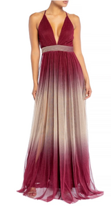 Wine Ombre Gown